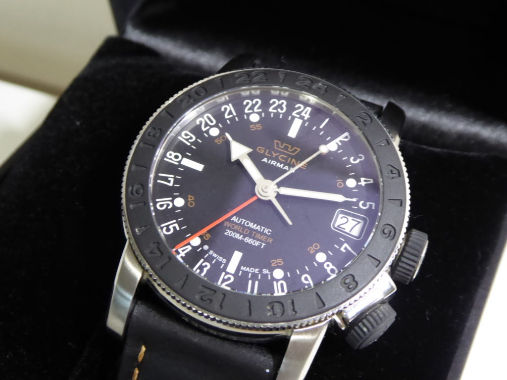 sell-used-Glycine-Airman-GMT-watch
