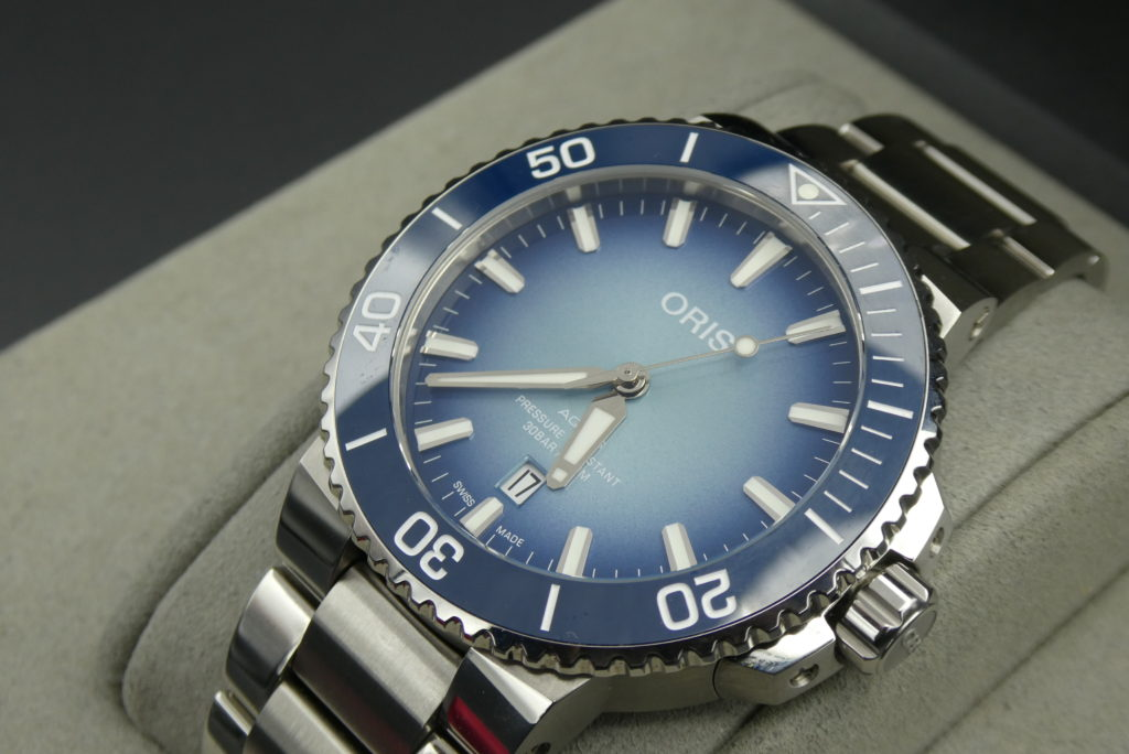 best-price-paid-for-used-oris-aquis-watch