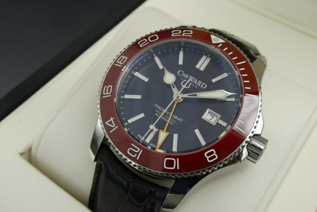 sell-used-christopher-ward-c60-gmt-red