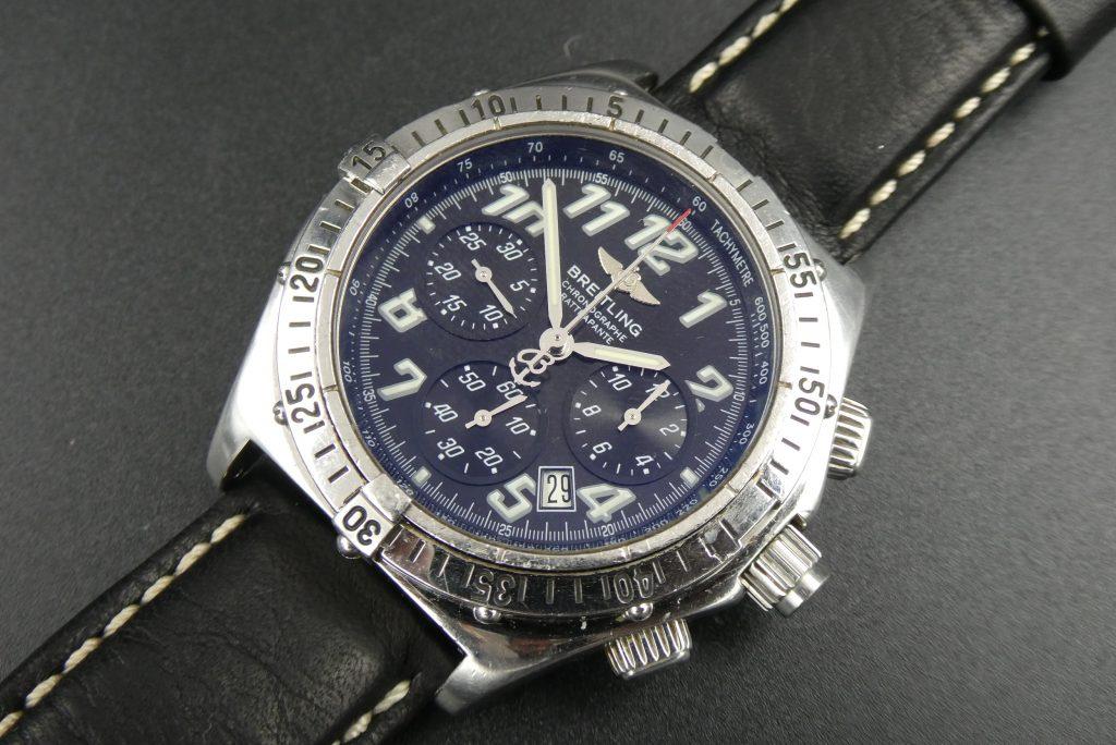 Breitling Chronograph Rattrapante Superquartz A69048