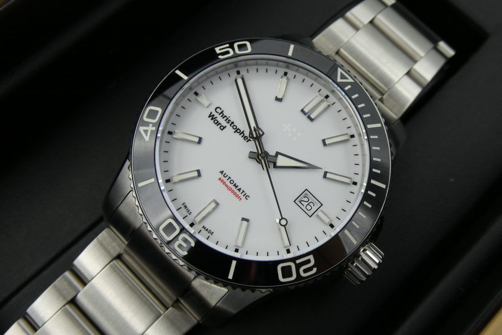 used-christopher-ward-watch-c60-white